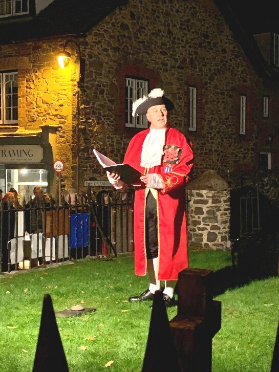 Porlock Town Crier, Grant Dennis at The Porlock Contribution to Battle's Over: A Nations Tribute